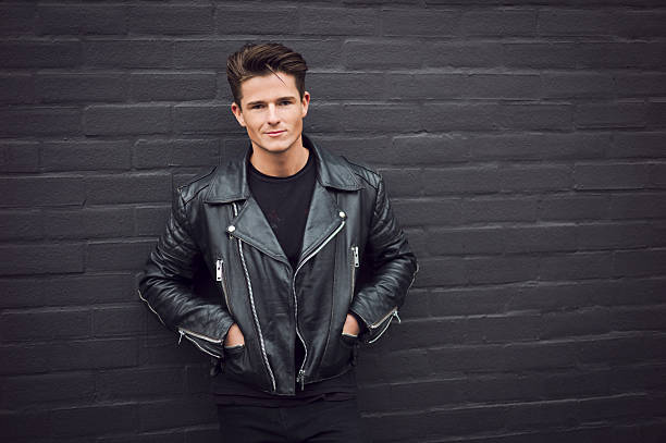leather jacket with hoodie for men